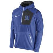 Men's Nike Royal Duke Blue Devils 2016 Sideline Vapor Fly Rush Half-Zip Pullover Jacket