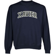 Xavier Musketeers Arch Name Sweatshirt - Navy Blue