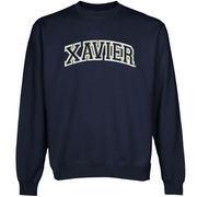 Xavier Musketeers Arch Name Sweatshirt - Navy Blue