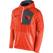 Men's Nike Orange Oregon State Beavers 2016 Sideline Vapor Fly Rush Half-Zip Pullover Jacket