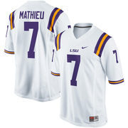 Men's Nike Tyrann Mathieu White LSU Tigers Alumni Football Game Jersey