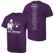 Men's Purple Kansas State Wildcats Coach Bill Snyder Stripe the Stadium T-Shirt