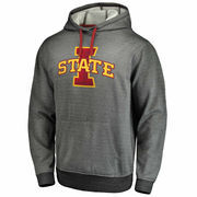 Men's Gray Iowa State Cyclones Performance Pullover Hoodie