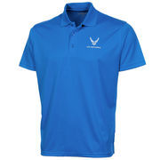 Air Force Falcons Royal Blue Omega Solid Mesh Tech Polo