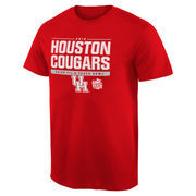Men's Red Houston Cougars 2015 Peach Bowl Bound Snap T-Shirt