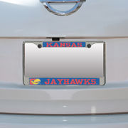 Kansas Jayhawks Small Over Large Mega License Plate Frame