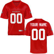 New Mexico Lobos Personalized Football Name & Number Jersey - Cherry