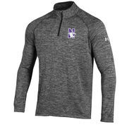 Men's Under Armour Heather Black Northwestern Wildcats 1/4 Zip Performance Top