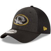 Men's New Era Heathered Black Missouri Tigers Neo 39THIRTY Flex Hat