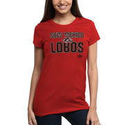 New Mexico Lobos adidas Women's Swept Away Slim Fit T-Shirt - Red