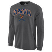 Men's Charcoal Virginia Cavaliers Campus Long Sleeve T-Shirt
