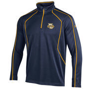 Men's Under Armour Navy Marquette Golden Eagles Contrast Stitch 1/4-Zip Jacket