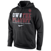 Men's Nike Black Oklahoma Sooners 2016 College Football Playoffs Bound Own the Playoff Performance Hoodie