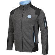 Men's Colosseum Charcoal North Carolina Tar Heels Double Coverage Full Zip Jacket