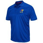 Mens Kansas Jayhawks Royal Blue Reflex Jersey Polo