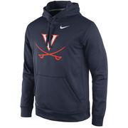 Men's Nike Navy Virginia Cavaliers Practice Performance Hoodie