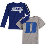 Youth Gray/Blue Duke Blue Devils Squad T-Shirt Combo Pack