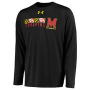 Men's Under Armour Black Maryland Terrapins On-Field Tech Long Sleeve T-Shirt