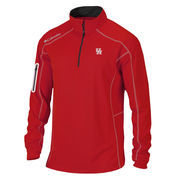 Men's Columbia Golf Red Houston Cougars Shotgun Omni-Wick Quarter-Zip Pullover Jacket