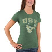 Women's Green South Florida Bulls Big Arch & Logo T-Shirt