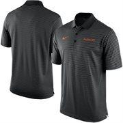 Men's Nike Black Oklahoma State Cowboys Stadium Stripe Performance Polo