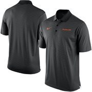 Men's Nike Black Oklahoma State Cowboys Stadium Stripe Performance Polo