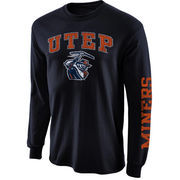 Mens UTEP Miners Navy Blue Arch & Logo Long Sleeve T-Shirt