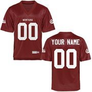 Montana Grizzlies Personalized Football Name & Number Jersey - Maroon