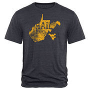 Men's Navy West Virginia Mountaineers Hometown Collection Hail WV Tri-Blend T-Shirt