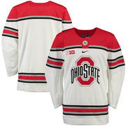 Men's Nike White Ohio State Buckeyes NCAA Replica Hockey Jersey