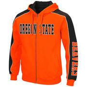 Men's Colosseum Orange/Black Oregon State Beavers Thriller II Full-Zip Hoodie