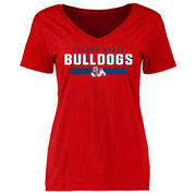 Women's Red Fresno State Bulldogs Team Strong Slim Fit T-Shirt