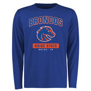 Men's Royal Boise State Broncos Campus Icon Long Sleeve T-Shirt