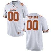 Mens Texas Longhorns Nike White Custom Replica Football Jersey