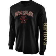 Mens Boston College Eagles Black Arch & Logo Long Sleeve T-Shirt