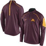 Men's Nike Maroon Minnesota Golden Gophers 2015 Football Coaches Sideline Quarter-Zip Performance Jacket