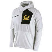 Men's Nike White Cal Bears 2016 Sideline Vapor Fly Rush Half-Zip Pullover Jacket