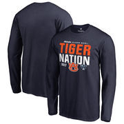 Men's Fanatics Branded Navy Auburn Tigers 2017 Sugar Bowl Bound Nation Long Sleeve T-Shirt