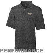 Mens Wake Forest Demon Deacons Cutter & Buck Gray DryTec Championship Polo