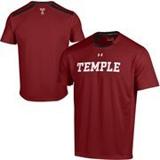 Temple Owls Under Armour Sideline Win It Performance T-Shirt - Red