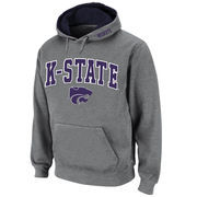 Men's Stadium Athletic Gray Kansas State Wildcats Arch & Logo Pullover Hoodie