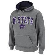 Men's Stadium Athletic Gray Kansas State Wildcats Arch & Logo Pullover Hoodie