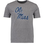 Men's Gray Ole Miss Rebels Classic Primary Logo Tri-Blend T-Shirt