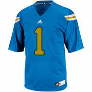 Mens UCLA Bruins No. 1 adidas True Blue Replica Football Jersey