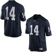 Mens Penn State Nittany Lions Nike Navy Blue No. 14 Limited Football Jersey