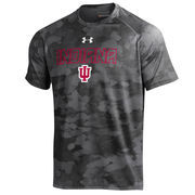 Men's Under Armour Black Indiana Hoosiers Tech Camo Performance T-Shirt