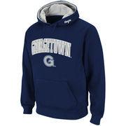 Mens Georgetown Hoyas Navy Blue Classic Twill II Pullover Hoodie Sweatshirt