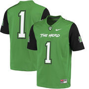 Men's Nike #1 Kelly Green Marshall Thundering Herd Replica Game Jersey