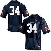 Men's Under Armour Navy No. 34 Auburn Tigers Replica Football Performance Jersey