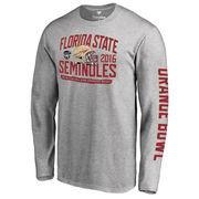Men's Fanatics Branded Heather Gray Florida State Seminoles 2016 Orange Bowl Bound Playbook Long Sleeve T-Shirt